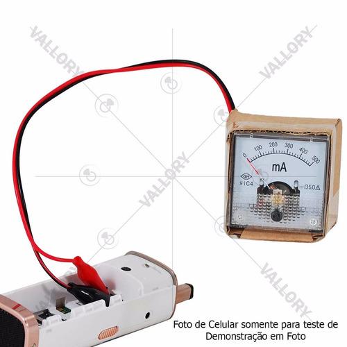 mini amperímetro analógico manutenção conserto de celular