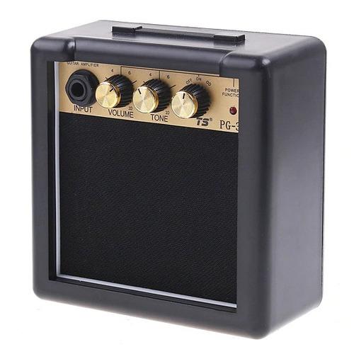 mini amplificador de guitarra 3w   amp portátil - excelente