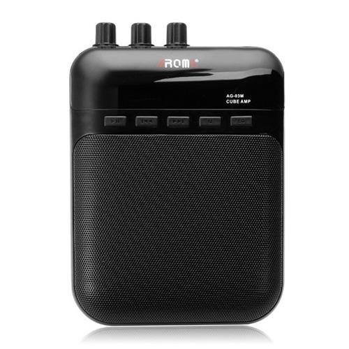 mini amplificador de guitarra 5w aroma, rec/play, mp3, aux..