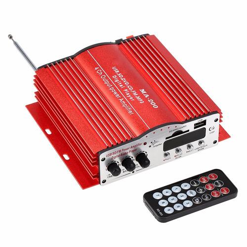 mini amplificador de som com 4 canais teli