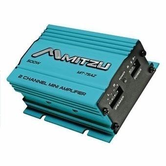 mini amplificador  mitzu 2 canales 500 w pmpo azul