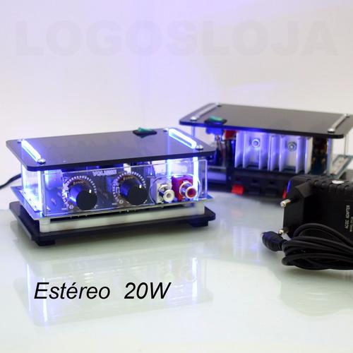 mini amplificador potência para caixa de som pc notebook