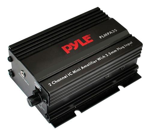 mini amplificador pyle plmpa35 2 canales 300 vatios con