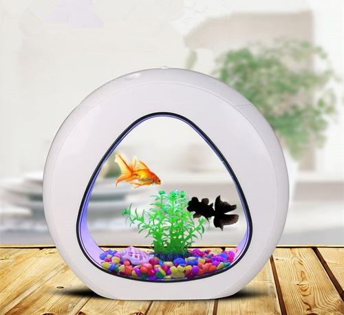 mini aquário sunsun ya-01 4 litros branco bivolt