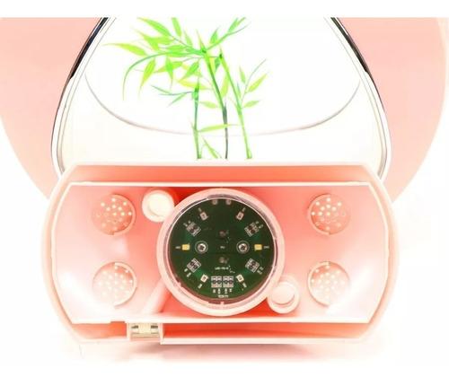 mini aquário sunsun ya-01 4 litros rosa bivolt