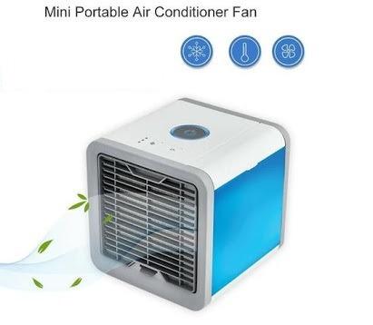 fc312076c Mini Ar Condicionado Ventilador Portátil C  Lâmpada Colorida - R ...