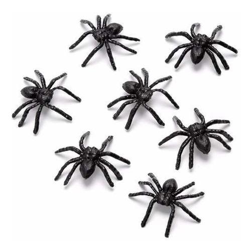 mini aranha de plástico 100 uni festa decoração atacado