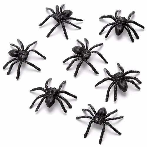 mini aranha de plástico 50 uni festa decoração atacado!!