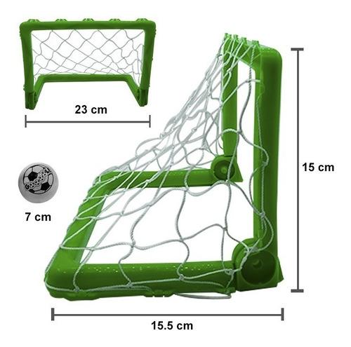 mini arcos de fútbol plegables cancha portátil + balón plást