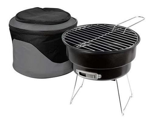 mini asador parrilla portátil de carbón con hielera superior
