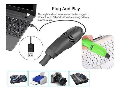 mini aspiradora led usb para electro teclados notebook y pc