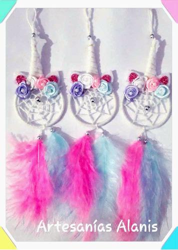 mini atrapasueños x 15 unicornios souvenirs