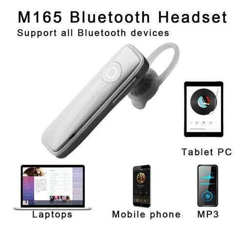 mini audífono bluetooth manos libres 1 pieza blanco