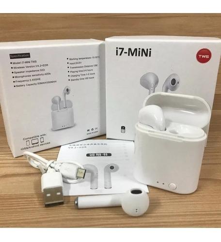 mini audífonos tipo airpod i7s tws bluetooth iphone, android
