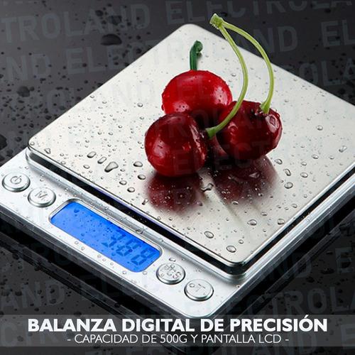 mini balanza digital precisión 0.01g a 500 g bandeja grande