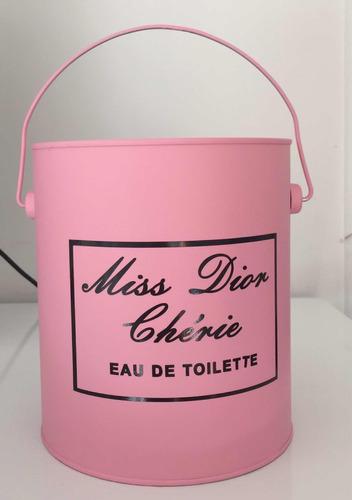 mini balde lata decor  miss rosa