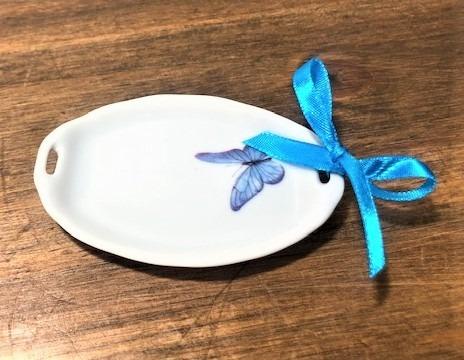 mini bandeja porcelana porta anel borboleta