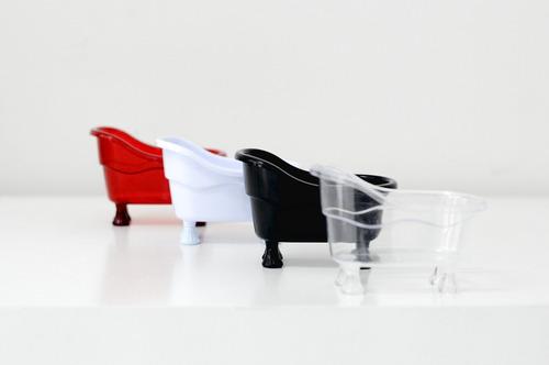 mini banheira acrílico pp - kit com 50 unidades