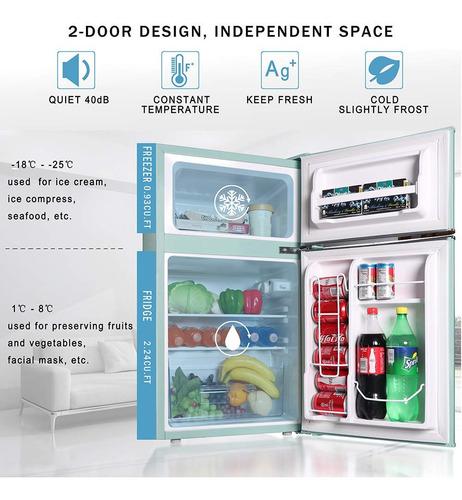 mini bar refrigeradora congeladora modelo retro dos puertas