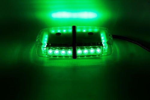 mini barral led 30 cm mod 816 -verde-24w-12v-medicos-ambulancias 24 optileds 360 grados