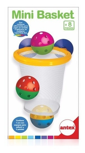 mini basket para jugar en el baño antex mundo manias