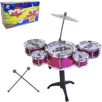 mini bateria musical infantil criança top 5 tambores prato .