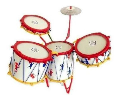 mini bateria musical infantil jazz drum tambor baquetas.