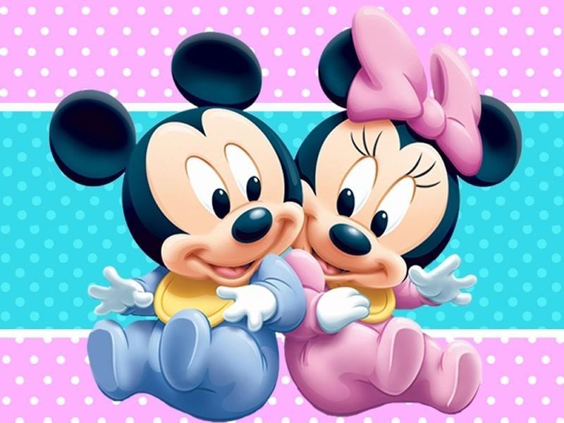 Mini bebe y mickey bebe figura de carton mini y mickey bs en mercado libre - Image minnie bebe ...