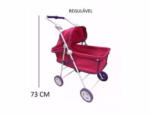mini berço balanço + berço carrinho boneca bebe alive reborn