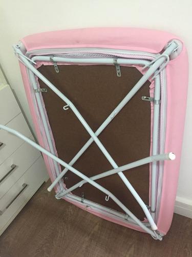 mini berço moisés rosa  - desmontável - grátis mosquiteiro
