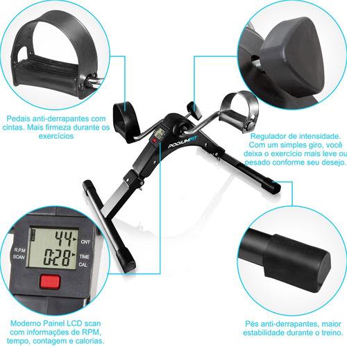 mini bicicleta ergométrica podiumfit mb50 portátil