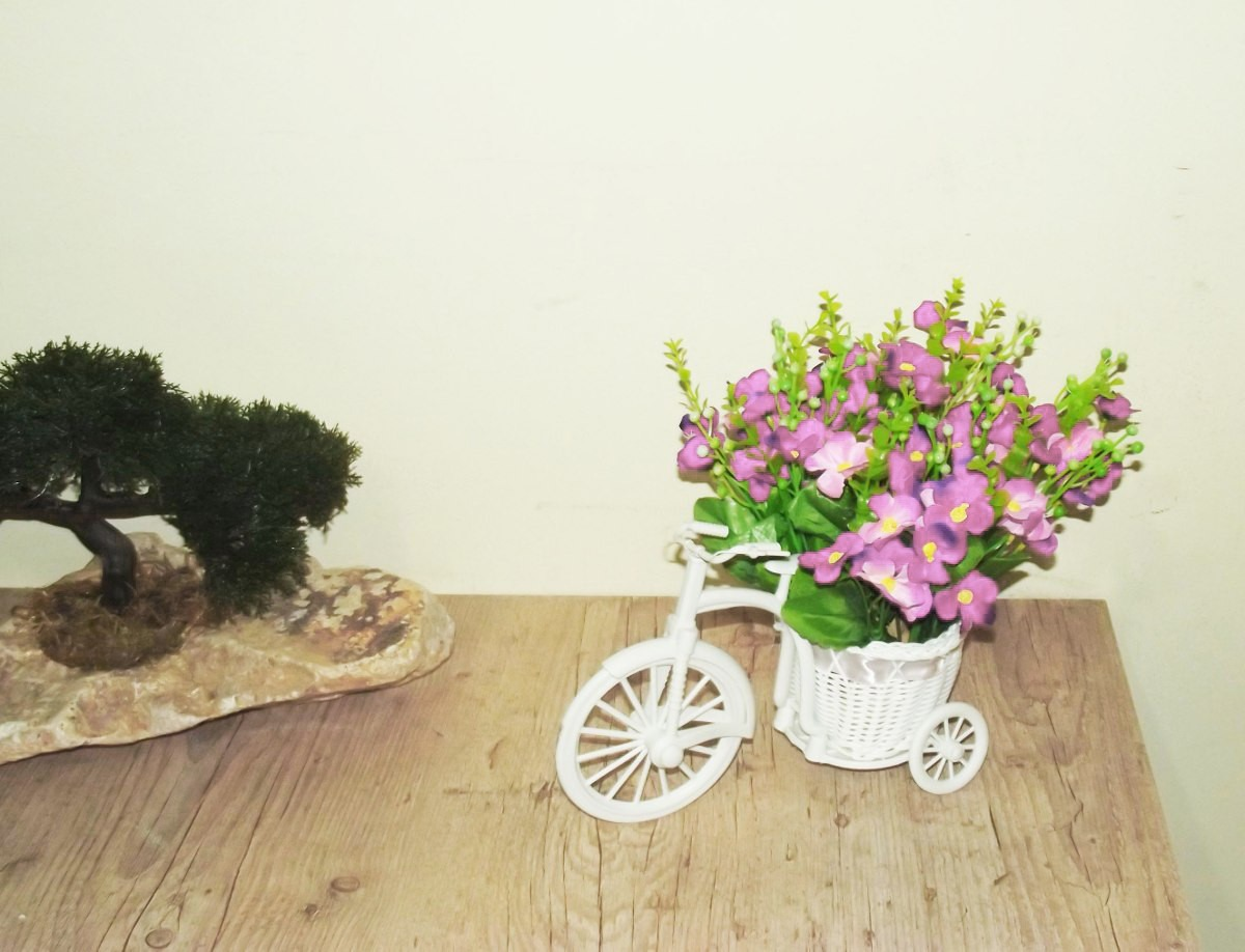 Mini Bicicleta S/ Flores - Vasos Enfeites Decoração