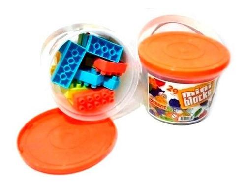 mini bloques ladrillos ruedas en balde x 29 piezas duravit