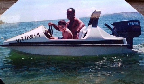 mini boat, jetboat com yamaha 25hp e carreta