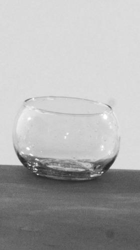 mini bochin de vidrio 5.5 x 4.5 cm