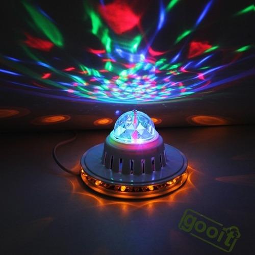 mini bola giratoria led rgb crystal dj party