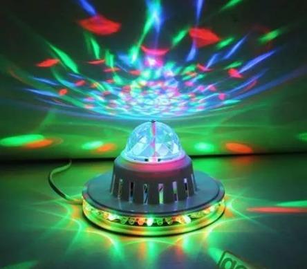 mini bola led giratoria laser discoteca fiesta