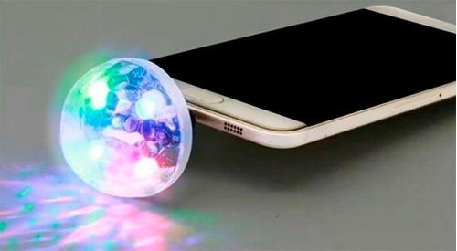 mini bola led rgb audioritmica usb celulares luces microusb