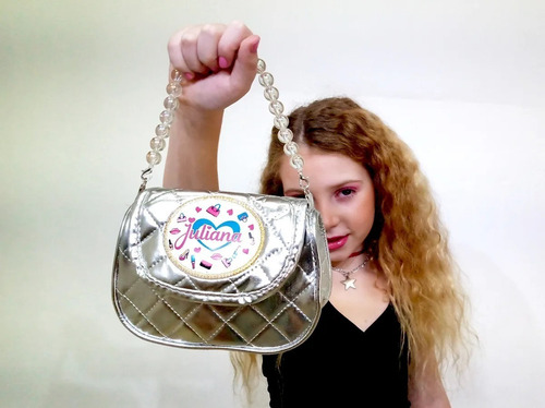 mini bolso cartera con cadena de perlas original juliana 073