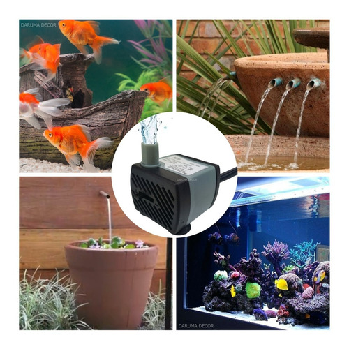 mini bomba submersa bombinha fonte água aquário peixe 220l/h