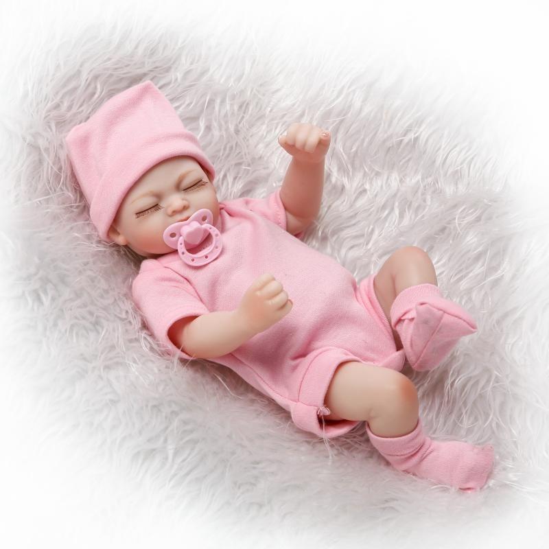Mini Boneca Beb 234 Reborn 29cm Silicone Articulado Chupeta