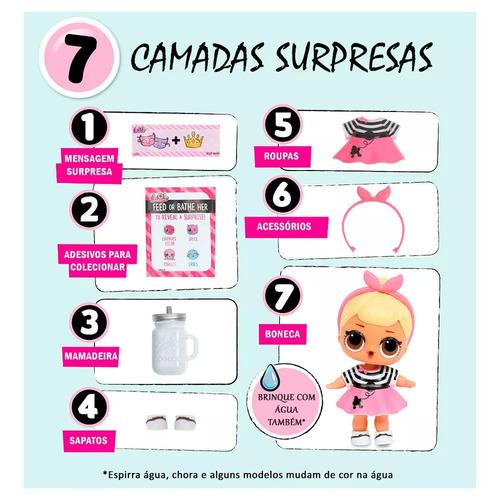 mini boneca surpresa - lol - lil outrageous littles - serie