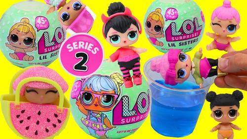 mini boneca surpresa lol surpresa serie 2 - kit c/4 unidades