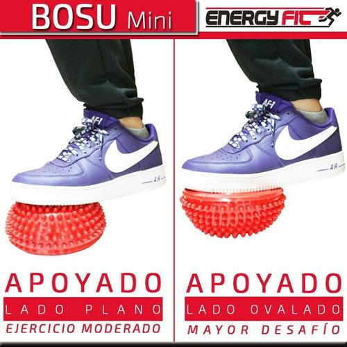 mini bosu kinesiologia equilibrio semi esfera base c/ stick