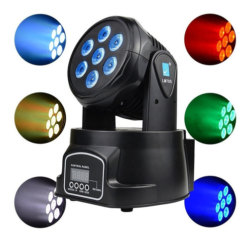 mini cabezal movil big dipper lm70-xb wash led 6x8w beam 1x10w dmx rgbw  58 watts