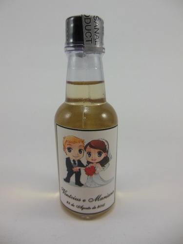 mini cachaça personalizada - padrinho - 20 garrafas