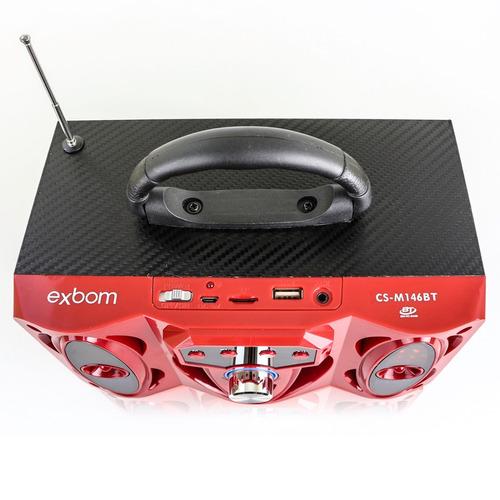 mini caixa caixinha som exbom cs146bt portátil bluetooth mp3