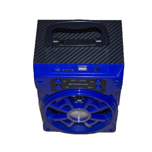 mini caixa de som 8w rms bluetooth rádio fm sd auxiliar usb
