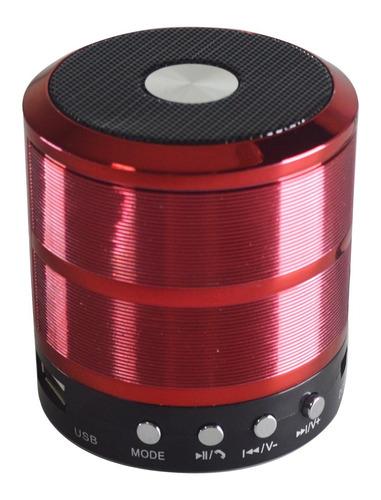 mini caixa de som bluethoot d-bh887 grasep (vermelho)