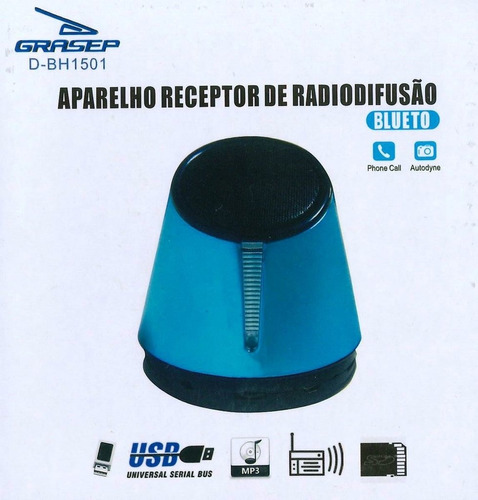mini caixa de som bluetooth d-bh 1501 cor preta